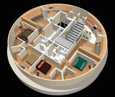 Former missile silos turned into luxury disaster survival condos Underground Shelter, Underground Homes, Luxury Bunkers, Round House Plans, Doomsday Bunker, Silo House, Ouvrages D'art, Geodesic Dome Homes, Survival Shelter