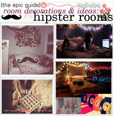 """""""the epic guide of room decorations & ideas: hipster rooms"""" by crazygirl220 on Polyvore"""