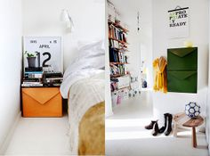 Emma Olber's home #bedroom #entryway