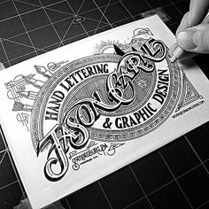 Hand Lettering by Jason CarneOh. Hand Lettering by Jason Carne Vintage Typography, Typography Letters, Graphic Design Typography, Lettering Design, Typography Drawing, Typography Served, Calligraphy Alphabet, Creative Typography, Silkscreen