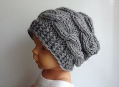 Baby winter hat Photo Prop Hat  Newborn Hipster Hat  by Ifonka