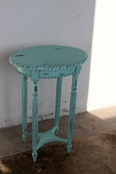 Tiffany Blue Accent Table