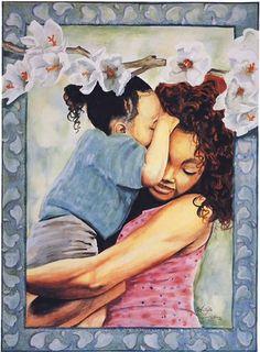A Daughter's Whisper ~ by Angel Latorre Black Women Art, Black Art, African American Artwork, Artistic Visions, Work Pictures, Brown Art, Afro Art, Art Music, Beautiful Artwork