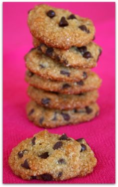 Almond- Chocolate Chip Cookies #weightwatchers