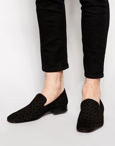 Jeffery West | Jeffery West Velvet Dress Slippers at ASOS
