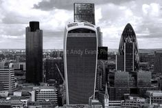 Cityscape Skyline of the City of London seen by AndyEvansPhotos #cityscapephotography #london #photooftheday #art