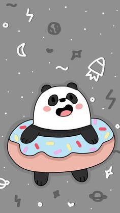Cute Panda Wallpaper, Bear Wallpaper, Kawaii Wallpaper, Cute Wallpaper Backgrounds, Trendy Wallpaper, We Bare Bears Wallpapers, Panda Wallpapers, Cute Cartoon Wallpapers, Disney Phone Wallpaper