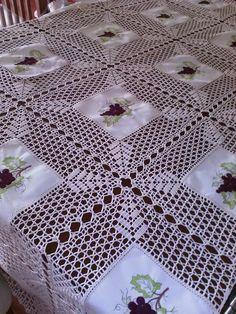 Elegant Filet Crochet Tablecloth For
