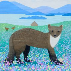 A commission of a Pine Martin by Scottish Illustrator Ailsa Black