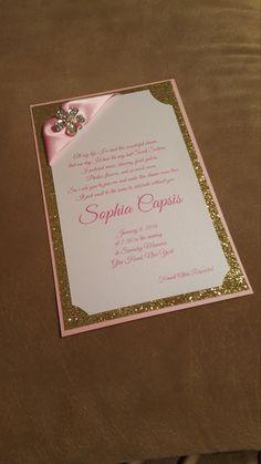 Glitter Sweet 16 Invitation Layered 3 layered by ECRDesigns
