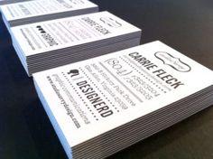 Visitenkarten im klassischen Format - alles andere als langweilig. Lassen Sie sich inspirieren!