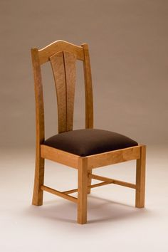 Cherry And Birds-Eye Maple Chair by Neal Barrett Woodworking