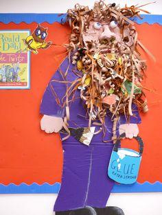 the twits artwork Roald Dahl The Twits, Roald Dalh, Roald Dahl Day, Roald Dahl Activities, Map Activities, Display Boards For School, School Displays, Teaching Schools, Teaching Art