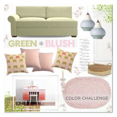 Color Challenge:Green and Blush by yukotange on Polyvore featuring polyvore, interior, interiors, interior design, home, home decor, interior decorating, Moooi, Joybird, CB2, Home Decorators Collection, MayraFedane, Pottery Barn, Louis Poulsen, homedesign, louispoulsen, collorchallenge and greenandblush