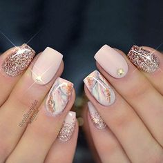 What manicure for what kind of nails? - My Nails Marble Nail Designs, Elegant Nail Designs, Elegant Nails, Classy Nails, Beautiful Nail Designs, Trendy Nails, Gel Nail Art Designs, Hair And Nails, My Nails