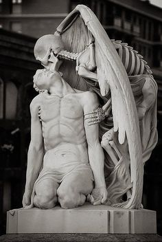 Kiss of Death - Poblenou Cemetery in Barcelona.