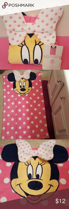 ADORABLE BABY BEACH TOWEL MINNIE MOUSE pink.  Adorable!!!  Matches swimsuit I have listed!    BUNDLE FOR DISCOUNT or buy separately.... Disney  Accessories