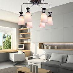 Modern Simple Glass Living Room Ceiling Lamp Creative Dining Room Ceiling Lamp Bedroom Ceiling Lamp