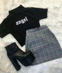 Teenage Outfits, Teen Fashion Outfits, Edgy Outfits, Mode Outfits, Retro Outfits, Korean Outfits, Grunge Outfits, Outfits For Teens, Vintage Outfits
