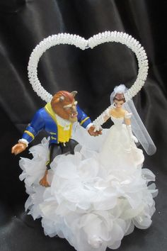 Disney Beauty and the Beast Wedding Cake Topper by 1topper on Etsy