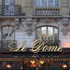 Rita Crane Photography: Paris / historic cafe / Haussman architecture / building / restaurant / Late Afternoon Reflections on Le Dome, Paris