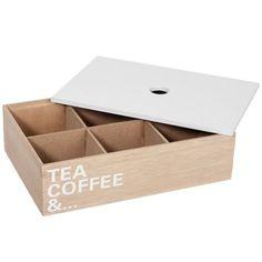 Krabička na čaj Tea Coffe And..., 24x16x6 cm | Bonami