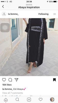 Modest Clothing, Modest Outfits, Abaya Fashion, Modest Fashion, Modern Abaya, Abaya Designs, Moroccan Caftan, Hijab Styles, Abayas