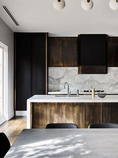 Modern Kitchen Design – Want to refurbish or redo your kitchen? As part of a modern kitchen renovation or remodeling, know that there are a . Rustic Kitchen Design, Contemporary Kitchen Design, Kitchen Layout, Interior Design Kitchen, Kitchen Ideas, Layout Design, Küchen Design, Home Design, Design Ideas