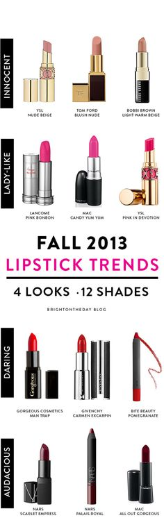 What're your favorite lip-color trends for Fall/Winter? Read more.......
