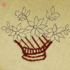 Hand Embroidery Videos, Floral Embroidery Patterns, Embroidery Stitches Tutorial, Embroidery Flowers Pattern, Learn Embroidery, Crewel Embroidery, Embroidery Techniques, Hand Embroidery Designs, Creative Embroidery