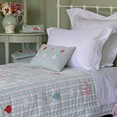 True classic country cottage style from Susie Watson. I love the colour and feel of this childrens room.