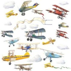Buy Childrens Wall Stickers - Planes from our Kids' Wall Sticker range - Tesco