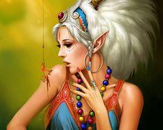 女の子、ブロンド、アニメ、美しい、明るい wallpaper