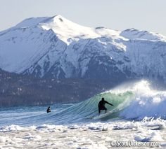 Surfing in Alaska What comes to mind when you read that? I bet there are a wide variety of reactions. Air temperatures well below zero (typically -5 to 30 Fahrenheit), water temps from 36 to 45 Fah…