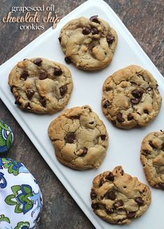 Grapeseed Oil Chocolate Chip Cookies