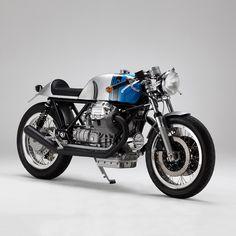 New from Hamburg-based Kaffeemaschine: A Moto Guzzi Le Mans Mk III cafe racer.