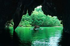 The Underground River (Philippines) is said to be Palawan's most fascinating cave complex Philippines Palawan, Philippines Travel Guide, England And Scotland, Biologist, Beach Resorts, Rafting, Dream Vacations, Kayaking, Travel Photos