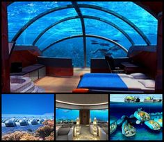 Possibly the most spectacular trip I could imagine... Spending 4 nights in an on-shore villa and 2 nights in an underwater suite would be bliss