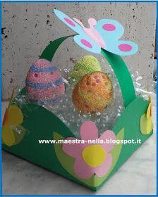 maestra Nella: cestino pasquale Bunny Crafts, Easter Crafts, Diy And Crafts, Christmas Crafts, Crafts For Kids, Christmas Ornaments, Arts And Crafts, Easter Art, Easter Bunny