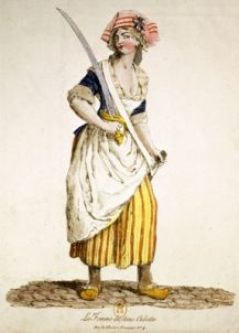 Sans-culottes are pantaloons worn by the working class. This pant features a full length look and is usually worn with clogs. The Counterrevolutionaries liked to set themselves apart from the shabby 'trouser-brigade'.