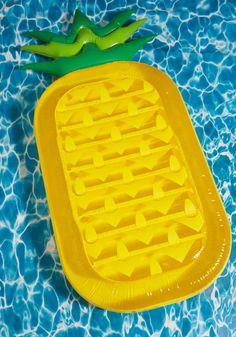 pineapple float kawaii hipster kitsch pineapple kitschy fachin float pool float swimwear modcloth fruit food sweets