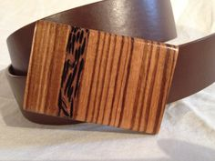 Zebrawoood with Black Palm Inlay Belt Buckle