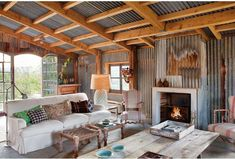 A shed living room