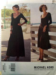 2625 Vogue Michael Kors Sewing Pattern UNCUT Size 8-10-12