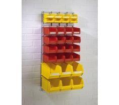 Small Wall Panel with Plastic Storage Bins