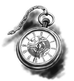 Resultado de imagem para clock tattoo drawing