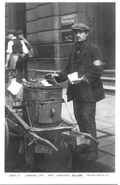 Hot Chestnut Seller. Photo: (1910).