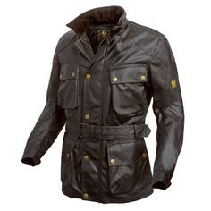 The original and the best, the Belstaff Trialmaster jacket. Vintage stye on and off the bike.