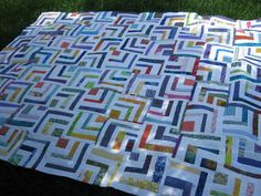 Love Laugh Quilt: Half Log Cabin....FREE STYLE!