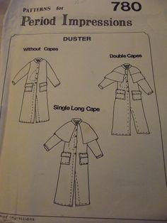 Civil War Duster pattern